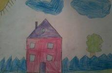 Детский рисунок домика-расшифровка