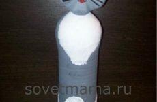 Кошка из пластиковых бутылок