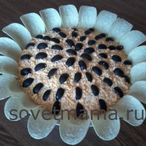 Рецепт салата «Подсолнух» пошагово с фото