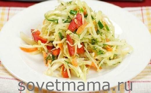 салат из капусты и перца