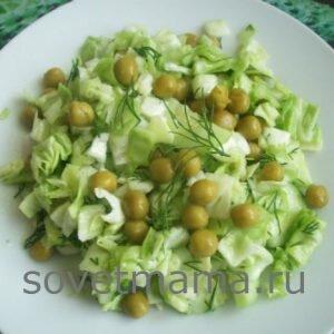 Салаты из свежей капусты-рецепты простые и вкусные
