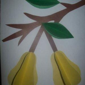 Объёмная аппликация из бумаги для детей